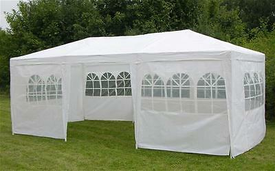Pavilion / Party tent white 3x6m with 8 Sides Steel