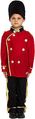 Childs Boys Busby Guard Soldier Fancy Dress Dressing Up Outfit Ages 4-9 Year New
