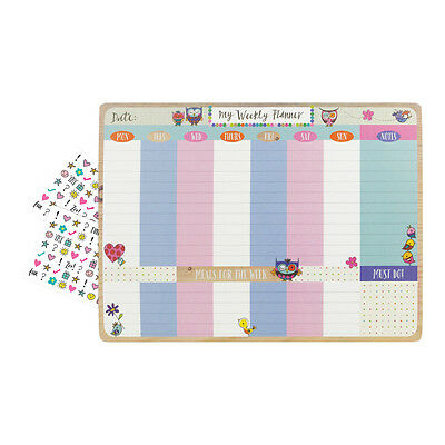 Busy Home Desktop Planner Pad - Diary Weekly Meal Plan To-Do List - 52 Pages