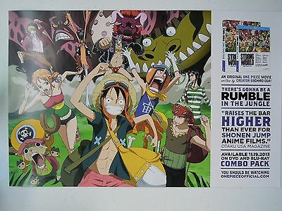 "Strong World: A One Piece Film Double-Sided Poster 17"" x 11"" NYCC Free Shipping"