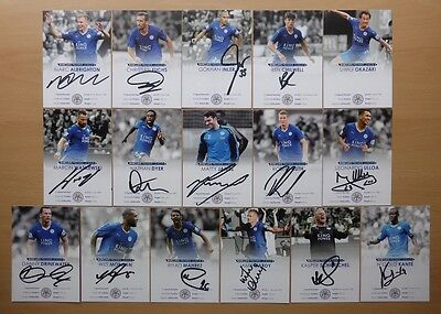 2015-16 Leicester City Signed Official Club Cards - RARE NEW CARDS AVAILABLE