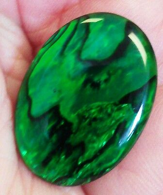 GREEN COLOURED ABALONE SHELL CABOCHON 9 DIFFERENT SIZES from 6mm to 40mm x 30mm