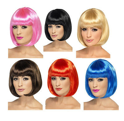 Partyrama Wig Short Bob with Bangs - Costume Accessory fnt