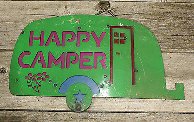 HAPPY CAMPER metal sign,camper,hanging sign,great for camping enthusiast,UNIQUE