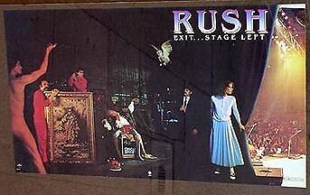 Rush poster 1981 Exit Stage Left mint condition