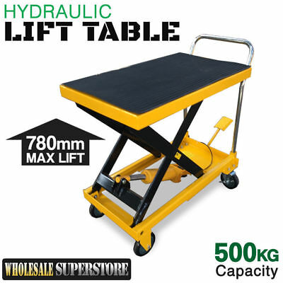 New LIFT TABLE Hydraulic Scissor 'Powerlift' 500kg Capacity 1/2 Price Jack Hoist