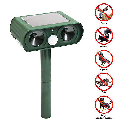 New Ultrasonic Solar Pest Animal Cat Dog Repeller Repellent Sensor Detection