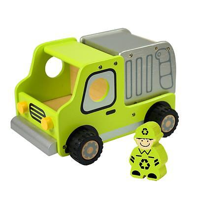 NEW I'm Toy Deluxe Wooden Garbage Truck with Garbage Man
