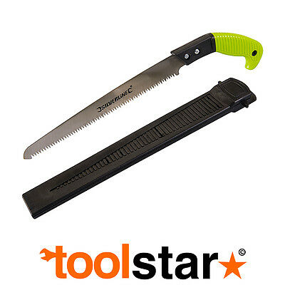 PRUNING SAW WITH SHEATH HOLSTER 275mm 6TPI - GARDEN TREE CUTTING BRANCH LOPPING