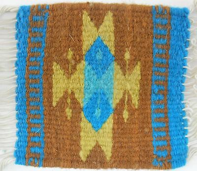 Zapotec wool hand woven & made 5 x 5 inch Rug & Coaster at Heard Museum $18.00