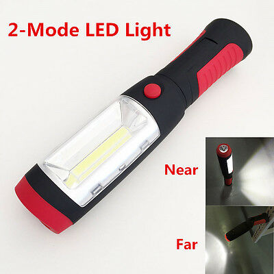LED Hook Light Flashlight Work Lamp with Magnet and 2 Light Modes Camping Red