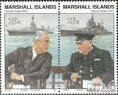 Marshall-Islands 370-371 Couple fine used / cancelled 1991 History of II. world