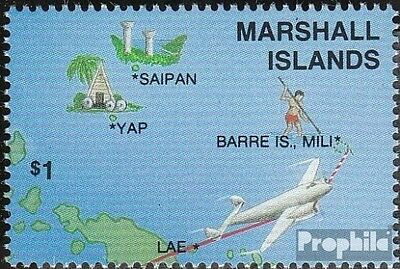 Marshall-Islands 124 fine used / cancelled 1987 Flights to the World