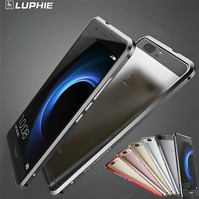 Luphie Ultra-Thin Aluminum Metal Bumper Frame Cover Case For Huawei Honor V8