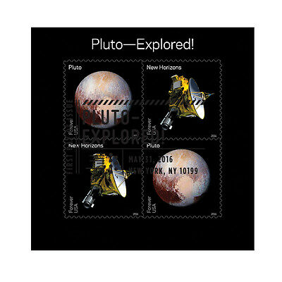 USPS New Pluto - Explored! Cancelled Full Pane