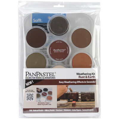 PanPastel Ultra Soft Artist Pastel Set 9ml 7/Pkg-Weathering - Rust & Earth