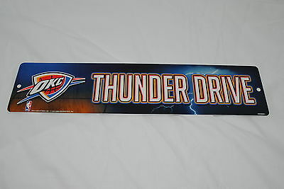Oklahoma City Thunder Drive 4'' x 16'' Street Sign