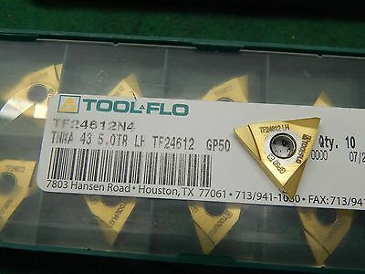Tool Flo TNMA 43 5.0TR LH GP50 Carbide Threading Insert
