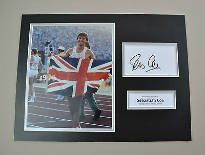Sebastian Coe Signed 16x12 Photo Autograph Display LA Games Memorabilia + COA