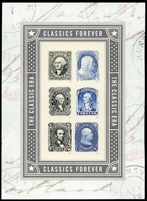 NEW The Classic Era Pane of Six Forever Stamps By USPS - Stuart Katz
