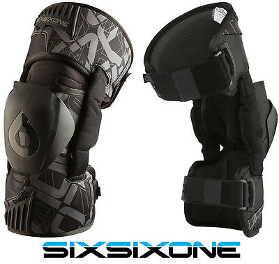 661 SIXSIXONE RAGE MOTOCROSS MX KNEE BRACES supports pads protectors enduro bike