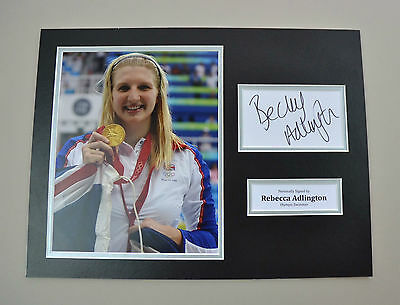 Rebecca Adlington Signed 16x12 Photo Autograph Display Olympics Memorabilia +COA