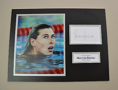 Sharron Davies Signed 16x12 Photo Autograph Display Olympics Memorabilia +COA
