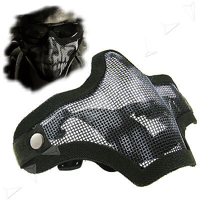 Half Face Protection Ghost Mesh Mask Airsoft Paintball Mask Tactical
