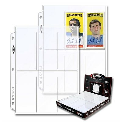 Trading Card Display & Storage 6 Pocket Pages x 100 page box
