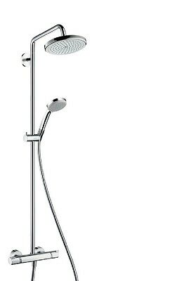 HANSGROHE 27135000 Croma 160 Exposed Shower Thermostatic Mixer Valve Chrome Kit