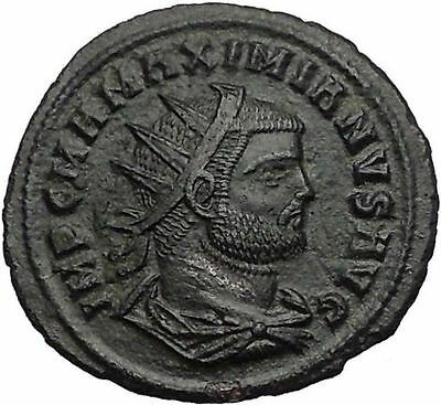 Maximian receiving Victory from Jupiter 292AD  Rare Ancient Roman Coin i56065