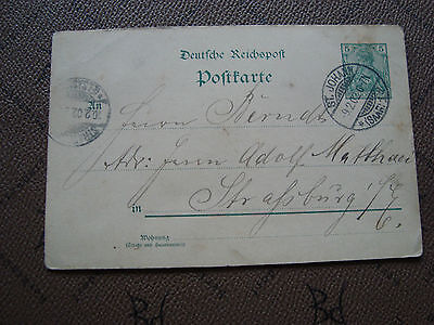 ALLEMAGNE - carte entier 1902 (cy80) germany