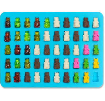 50 Candy New Silicone Maker Cavity Tray Mold Chocolate Gummy Ice Bear