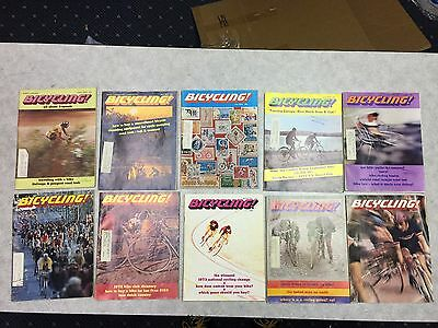 Bicycling Magazine Lot 1973 - Club Directory Track Racing Fuji And More