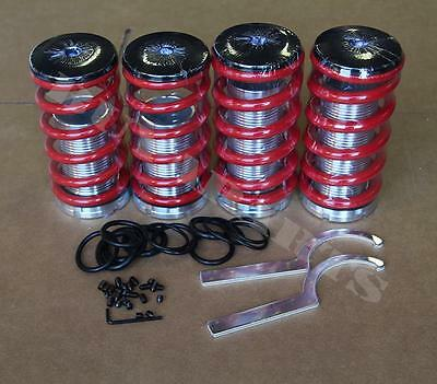 Red Lowering Adjustable Coilover Coil Spring Kit For Honda Del Sol 1993-1997