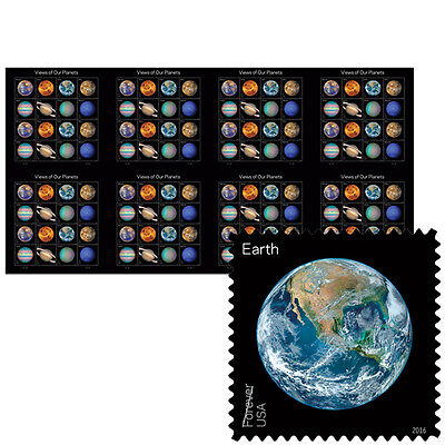 USPS New Views of Our Planets Press Sheet with Die Cuts