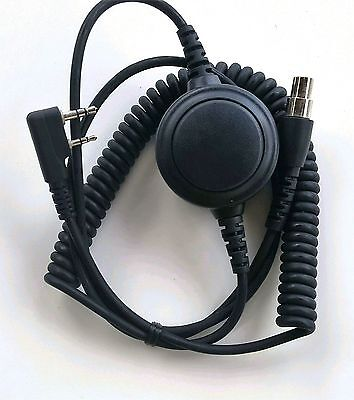 Headset Coiled Cord Baofeng 2P w/ptt Kelvar Reinforced Racing Radios Electr