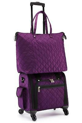"""16"""" Spinner 360 Lightweight Rolling Carry-On Luggage Wheels and Tote"""