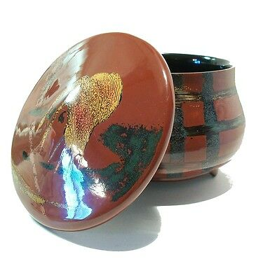 Vintage Lacquer Bowl & Cover - Unsigned - Japan - Mid/Late 20th Century