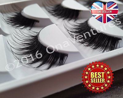 5 PAIRS False Lashes DRAMATIC VOLUME STUNNING Fake Eyelash THICK LONG Mink Lash