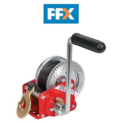 Sealey GWW1200B Geared Hand Winch with Brake & Webbing 540kg Capacity
