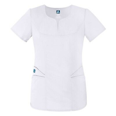 Adar Universal Curved Pocket Glamour Scrub Top