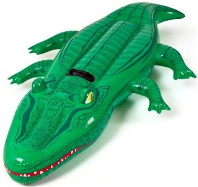 Aquafun Jumbo Inflatable Crocodile 183cm lounge, Ride On, Pool Toy, Float, Raft