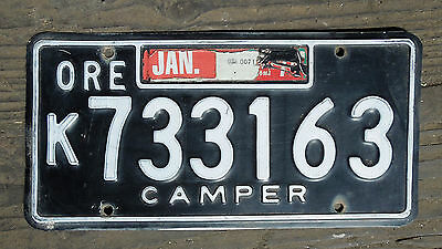 1970's OREGON CAMPER LICENSE PLATE
