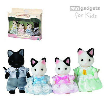 Genuine Sylvanian Families Tuxedo Cat  Family for age 3+