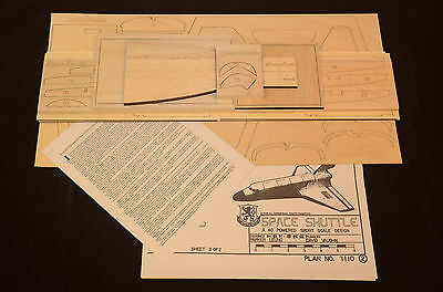 SPACE SHUTTLE Laser Cut Short Kit, Plans & Instruction 37.5 in. wing span