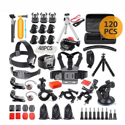 62in1 Accessories GoPro Pack Case Chest Head Monopod For Go pro HD Hero 4 3+ 3 2