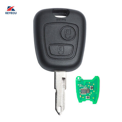New Uncut Remote Car Key Fob 2 Button 433MHz ID46 for Peugeot 206
