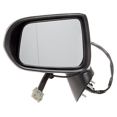 Left Passenger Side NS Wing Mirror Heated Indicator Glass Black Primed Cover