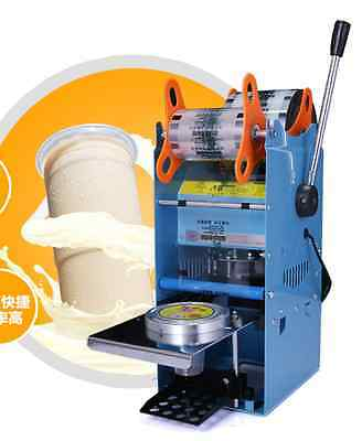 New Manual Tall-cup Sealing machine for Bubble Tea ,Fruit Juice 220V WY-802F